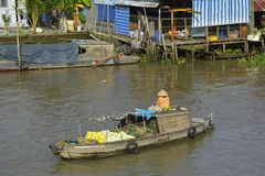Boat at Phong Dien Floating Market Stock Photography