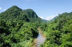 Rainforest of Phong Nha and Bang Ke national park. The rainforest landscape of Phong Nha-Ke Bang National Park in Vietnam stock photos