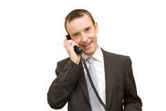 Phoning Royalty Free Stock Image