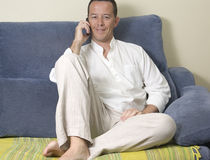Phoning Royalty Free Stock Photography