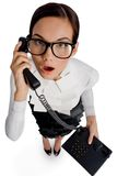 Phoning Royalty Free Stock Photo