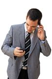 Phoning businessman Royalty Free Stock Images