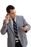 Phoning businessman Royalty Free Stock Photo