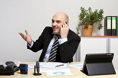 Phoning businessman Stock Photo