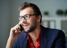 Phoning client Stock Photos