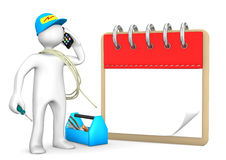 Phoning Electrician Notepad Stock Images