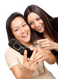 Phoning together Stock Photography