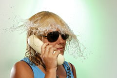 Phoning woman Royalty Free Stock Photography