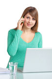 Phoning at work Stock Photography