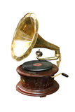 Phonograph. Old phonograph disc and funnel stock images