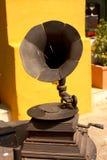 Phonograph. Metal. urban sculpture in Cartagena de Indias Royalty Free Stock Photos
