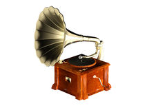 Phonograph. A phonograph isolated with white background Stock Photo