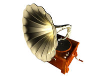 Phonograph. A phonograph isolated with white background Royalty Free Stock Photo