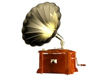 Phonograph. A phonograph isolated with white background Stock Photos
