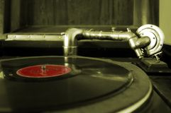 Phonograph. Old record player Stock Photography