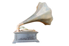 Phonograph antique. On white background, clipping path in picture Stock Image