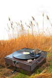 Phonograph in country corn field Stock Photos