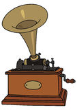 Phonograph. Hand drawing of classic phonograph Stock Image