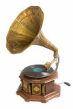 Phonograph. Isolation Old phonograph disc play music royalty free stock photos