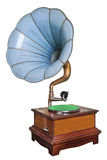 Phonograph. Old phonograph on white background Stock Image