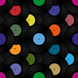 Phonograph record seamless background pattern Stock Photo