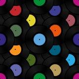 Phonograph record seamless background pattern Stock Photo