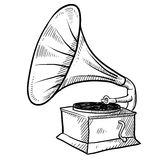 Phonograph sketch Stock Photo