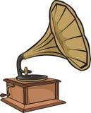 Phonograph - vintage gramophone. Phonograph cylinder, record player, thomas alva edison royalty free illustration