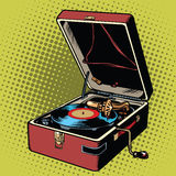 Phonograph vinyl record player Stock Images