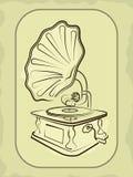 Phonographe ancien antique Photographie stock libre de droits
