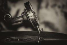 Phonographe de musique de jazz de vieille école photo stock