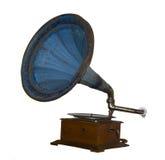 Phonographe de vintage d'isolement sur le fond blanc Image stock