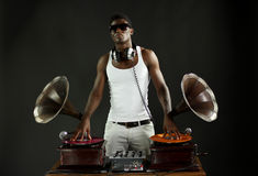 Phonographe DJ Photos libres de droits