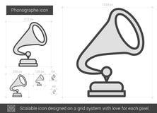 Phonographe line icon. Royalty Free Stock Photo