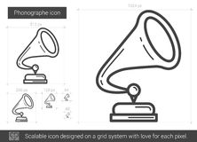 Phonographe line icon. Stock Image