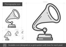 Phonographe line icon. Stock Photography