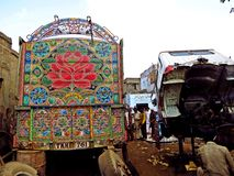 Phool Patti, Truck Art in Pakistan royalty free stock images