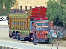 Phool Patti, Truck Art in Pakistani Balochistan stock photos