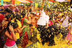Phoolon Ki Holi : Holi with flowers Stock Photography
