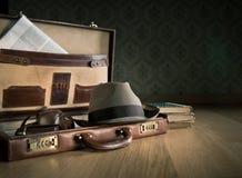 Phoreporter vintage briefcase Stock Photos