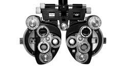 Phoropter, apparecchiatura di collaudo oftalmica Immagini Stock Libere da Diritti