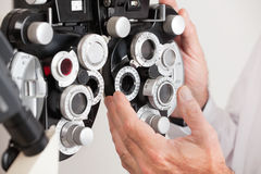 Phoropter For an Eye Examination Stock Image