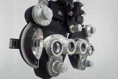Phoropter voor een oog het testen apparaat stock foto
