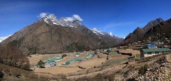 Phortse, pueblo hermoso de Sherpa en la región de Everest Fotografía de archivo libre de regalías