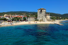 Phospfori tower in Ouranopolis, Athos Peninsula Royalty Free Stock Images