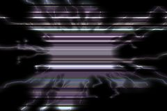 Phosphorescent czarne niebieskie linie Radosna tekstura i wzór Fotografia Royalty Free