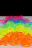 Phosphorescent loom bands Royalty Free Stock Images