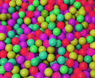 Phosphorescent plastic coloured balls in the game pool. Phosphorescent coloured balls in the game pool Stock Image