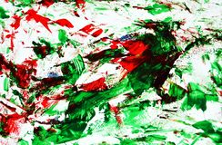 Phosphorescent red bright vivid painting backround, abstract painting watercolor background stock photos