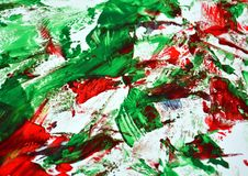 Phosphorescent red bright vivid painting backround, abstract painting watercolor background royalty free stock image